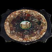 "Victorian era Italian Micromosaic & Pietra Dura tablet/paperweight ""Grand Tour"" souvenir."