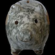Antique Spongeware Piggy Bank