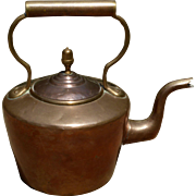 English Late Georgian Copper Tea Kettle