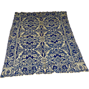 American antique signed blue/white coverlet - 1838 Hannah Bentley