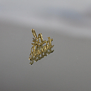 14k - #1 Aunt Worded letter Pendant Charm in Yellow Gold