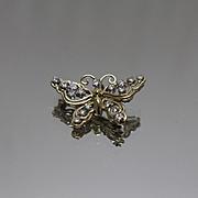 18kt- 1.00 CTW - Jack Gutschneider Designer Butterfly Pendant Pin Brooch JG JLRY in Yellow Gold
