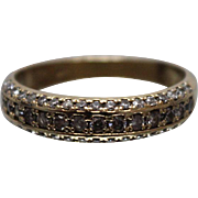 14k - .75 ctw - High Quality Elegant Wrap Around Diamond Ring in Yellow Gold