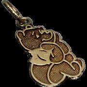 14k - Disney Winnie the Pooh Pendant Charm in Yellow Gold