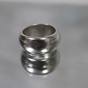 925 - Wide Band Thumb Ring Style in Sterling Silver