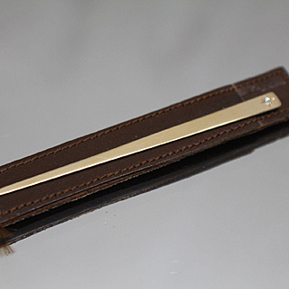 14k - Diamond Toothpick with Protective Sleeve in Yellow Gold