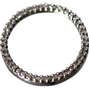 10k -  .50 CTW -  Diamond Encrusted Circle of Love Slide Pendant in White Gold