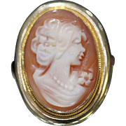 14KT Stunning Cameo Ring in yellow gold mounting