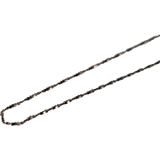 "925 - 20"" - Twisted Infinity Serpentine Link in Aged Sterling Silver"