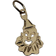 14k - Joyous Clown IT Pendant Charm in Yellow Gold