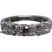 925 - 1.20 ct - Cubic Zirconia CZ Anniversary Band in Sterling Silver