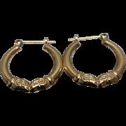 14k - Kissing Rams Hoops Earrings in Yellow Gold
