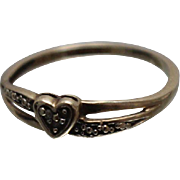 10k - .05 ct - Overlapping Heart Band with Cutout in Yellow Gold