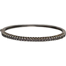 925 - 1.00 ctw - Cubic Zirconia CZ Bangle Bracelet in Sterling Silver