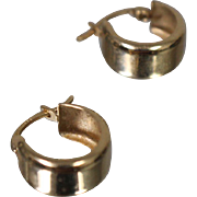 14k - Small Size Hinged Hoop Earrings in Yellow Gold