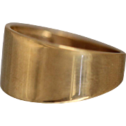 10K -  Modernist Tapered Graduated Wide Band Thumb / Pinky Style in Yellow Gold