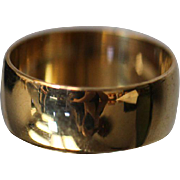 10k 7.7mm Wide Plain Band Polished Thumb Style in Yellow Gold