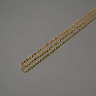 "14KT Plain Simple Rope Link Necklace in Yellow Gold 18 1/2"" 1.6g"