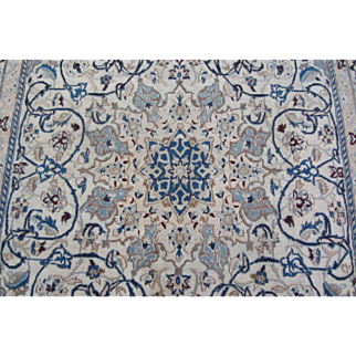 Handmade Authentic Persian Nain Nohla Rug - 50 years - 300 x 200 cm - 9.8 x 6.5 ft
