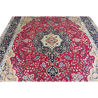 Handmade Authentic Persian Tabriz Rug - 70 years - 340 x 250 cm - 11.1 x 8.2 ft