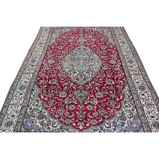 Handmade Authentic Persian Nain Wool and Silk Rug - 40 years - 295 x 200 cm - 9.6 x 6.5 ft