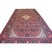 $8,500 Handmade Authentic Persian Sarouk Rug - Circa 1920 - 315 x 220 cm - 10.3 x 7.2 ft