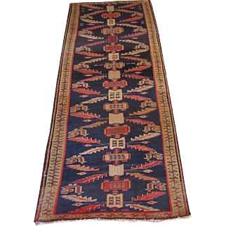 Handmade Authentic Caucasian Rug - 70 years - 285 x 95 cm - 9.3 x 3.1 ft
