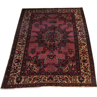 Handmade Authentic Persian Bakhtiari Rug - 70 years - 200 x 134 cm - 6.5 x 4.3 ft