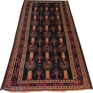 Handmade Authentic Caucasian Rug - 80 years - 305 x 135 cm - 10 x 4.4 ft