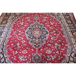 SIGNED Handmade Authentic Persian Khorasan Rug - Signed - 50 years - 310 x 260 cm - 10.1 x 8.5 ft