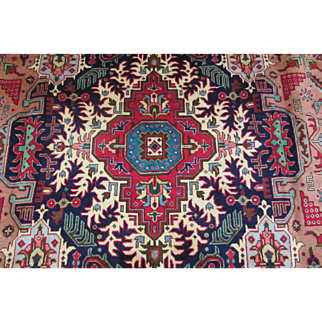 SIGNED Handmade Authentic Persian Tabriz Heriz Rug - Signed - 60 years - 400 x 300 cm - 13.1 x 9.8 ft