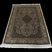 Handmade Authentic Persian Qum Rug - 50 years - 172 x 105 cm - 5.6 x 3.4 ft