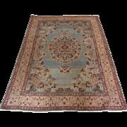 Antique Handmade Authentic Persian Qum Rug - 100+ years - 206 x 145 cm - 6.8 x 4.8 ft