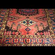 $4,200 Handmade Authentic Caucasian Azerbaijani Rug - 55 years - 210 x 167 cm - 6.9 x 5.5 ft