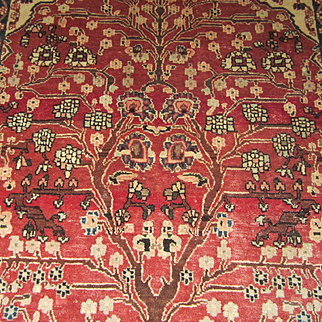 $6,000 TWIN RUGS - Handmade Authentic Persian Najaf Isfahan - Circa 70 years - 200 x 145 cm (6.6 x 4.8 ft) EACH - Can sell separately