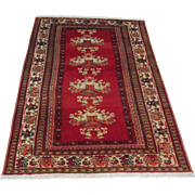 $3,000 Antique Handmade Authentic Persian Guli Farang Rug - 120 years - Renown for their superb artistic flowers - 205 x 110 cm - 6.7 x 3.6 ft