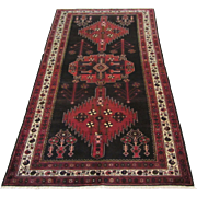 $3,000 Antique Handmade Authentic Caucasian Kafkaz Rug - 100 years - 300 x 155 cm - 9.8 x 5.08 ft