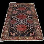 Antique Handmade Authentic Caucasian Kazak Rug - 120 years - 190 x 120 cm - 6.2 x 3.9 ft