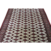 Antique Handmade Authentic Persian Bokhara Yamoud Rug - 110 years - 210 x 160 cm - 6.8 x 5.2 ft