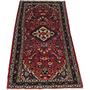 Handmade Authentic Persian Hamadan Runner Rug - 30 years - 210 x 77 cm - 6.8 x 2.5 ft