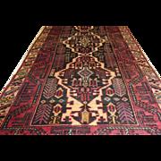 Handmade Authentic Caucasian Karabakh Runner Rug - 60 years - 285 x 120 cm - 9.3 x 3.9 ft