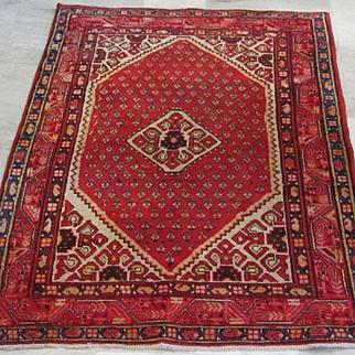 Handmade Authentic Persian Sarouk Saraband Rug - 55 years - 200 x 135 cm - 6.5 x 4.4 ft