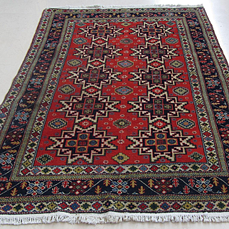 Handmade Authentic Caucasian Rug - Circa 30 years - 200 x 130 cm - 6.5 x 4.2 ft