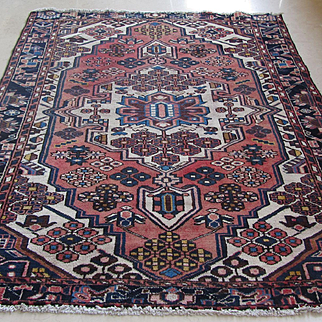 Handmade Authentic Caucasian Rug - Circa 50 years - 200 x 135 cm - 6.5 x 4.4 ft
