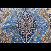 Handmade Authentic Persian Qum Rug - Circa 30 years - 190 x 130 cm - 6.2 x 4.2 ft