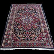 $3,300 Handmade Authentic Persian Qum Rug - Circa 30 years - 195 x 125 cm - 6.3 x 4.1 ft