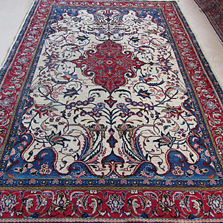 Handmade Authentic Persian Sarouk Rug - Signed - Circa 30 years - 235 x 145 cm - 7.7 x 4.7 ft