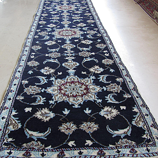 Handmade Authentic Persian Nain Rug -Circa 20 years - 260 x 76 cm - 8.5 x 2.4 ft