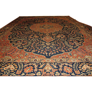 Antique Handmade Authentic Persian Tabriz Rug - 150+ years - 365 x 262 cm - 11.9 x 8.5 ft