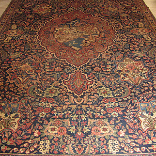 Antique Handmade Authentic Persian Tabriz Rug - Circa 120 years - 340 x 217 cm - 11.1 x 7.1 ft - $16,000